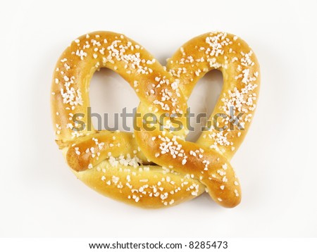 A warm and chewy salted soft pretzel.