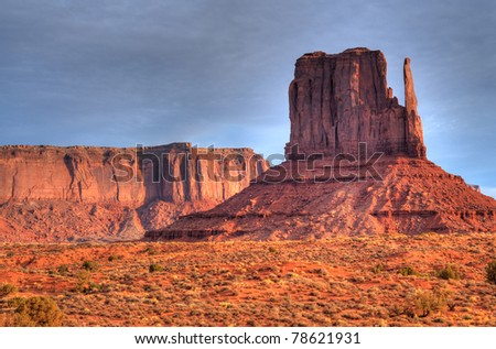A Warm Dawn over Monument Valley Arizona