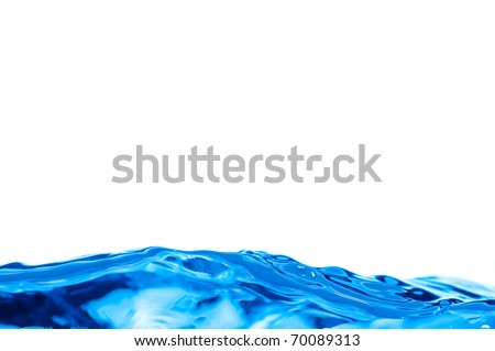 a water background of a blue wave