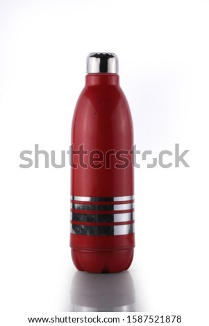 A water bottle is a container that is used to hold water, liquids or other beverages for consumption. The use of a water bottle allows an individual to drink and transport a beverage from one place to