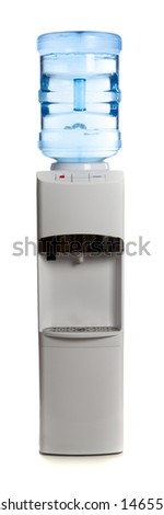 A water cooler on a white background - stock photo