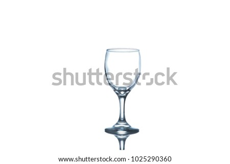 A water glass on white background, isolated with clipping path. #1025290360