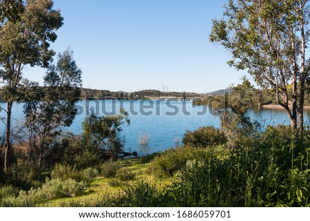 Photo of  A water supply reservoir in San Diego County, Lake Jennings is located in the city of Lakeside and is a popular destination for fishing and boating.
