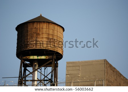 a water tower in new york city.