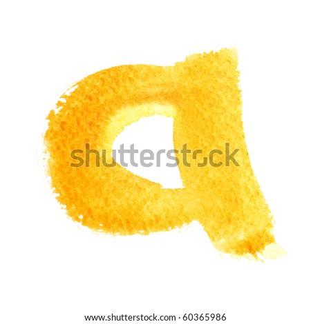 A - Watercolor letters (Lower case)