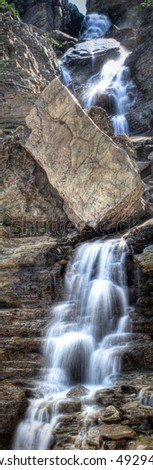 A waterfall in Glacier National Park, Montana