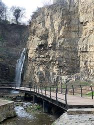 A waterfall in Tbilisi, Georgia