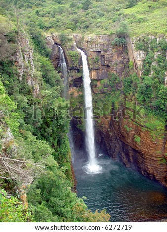 A waterfall in the Blyde area in South Africa