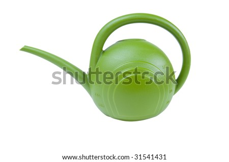 A watering can for gardening on a white background