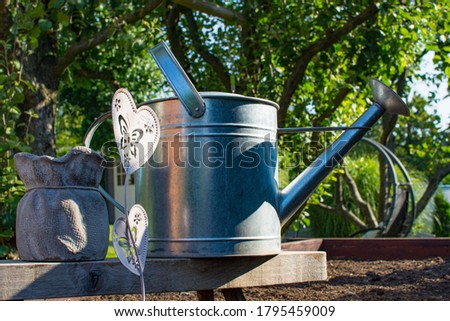 A watering can with deko  Stok fotoğraf ©
