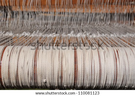 A weaving loom with the strings