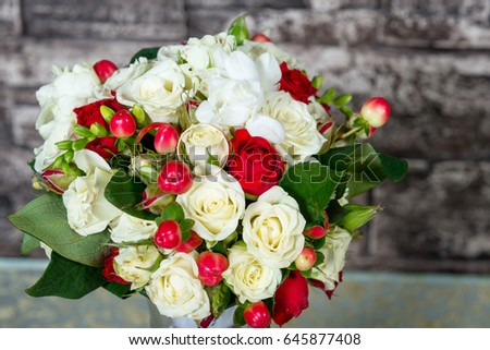 A Wedding Bouquet In A Vase A Fragrant Wedding Symbol Gift To The
