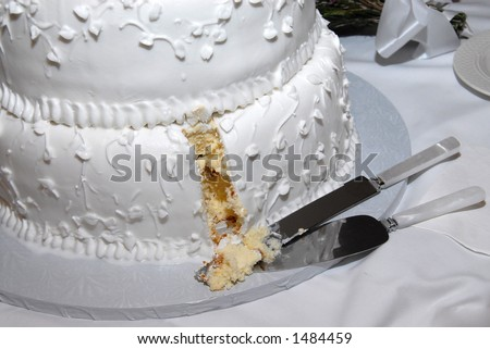 who cuts the wedding cake first a wedding cake with the slice cut out by the 27429
