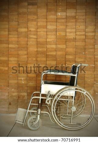a wheel chair in a hospital