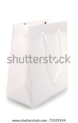 a white bag on a white background