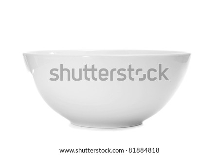 a white bowl on a white background