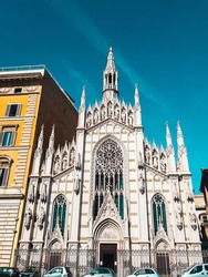 A white churh in Rome