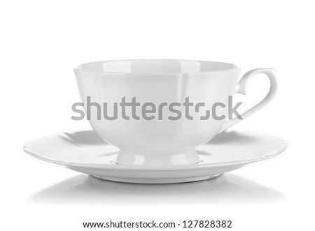 A white cup isolated on white