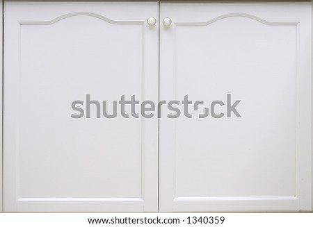 A white cupboard door.