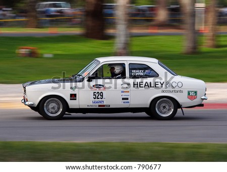 Ford Escort Mk1 Black. stock photo : A White Mk1 Ford
