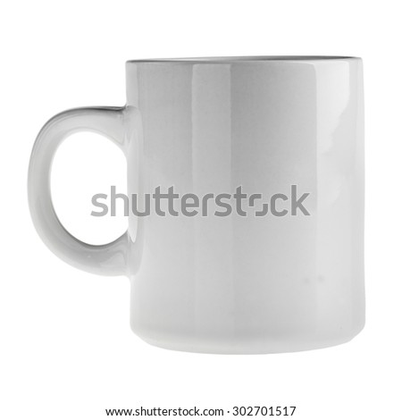 a white mug isolated over a white background #302701517