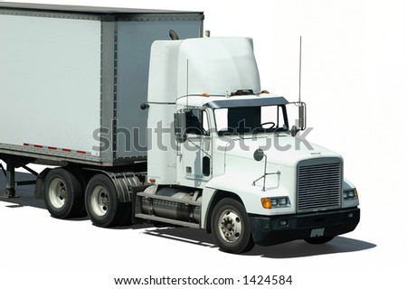 A white truck (isolated)