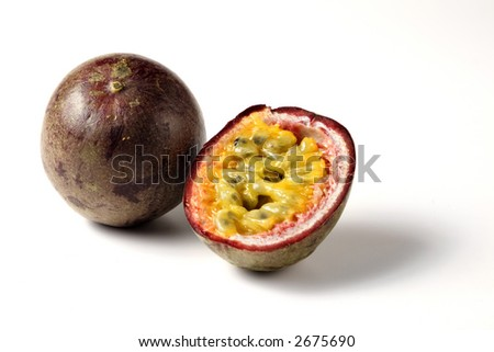 a whole and a half passion fruit