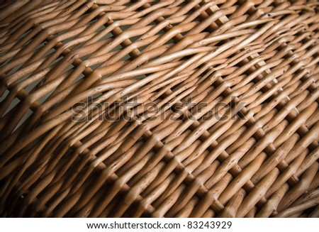 a wicker basket close-up photo texture with shallow depth of field