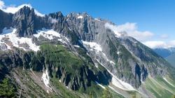 A Wide Angle Panorama of Johannesburg Mountain and Mixup Peak from the Cascade Pass Sahale Arm Trail.  North Cascades National Park, Washington