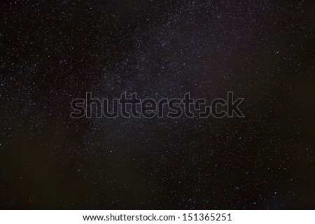 A wide field astrophotographic image showing detail from the Milky Way