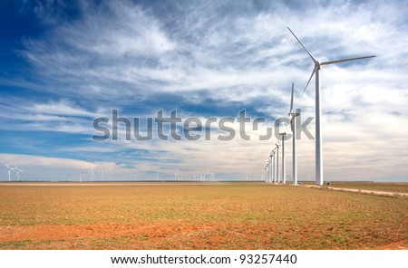 A wind farm in west Texas.