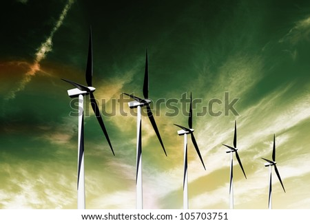 A wind farm is a group of wind turbines