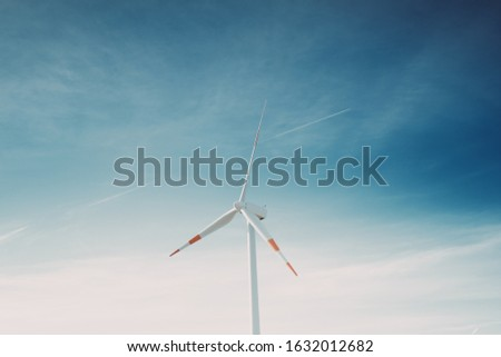 """A wind farm or wind park, is a group of wind turbines used to produce electricity. This particular wind farm is located on the mountains of Italy and it allows to realize """"clean energy"""""""