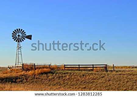 A Windmill in the Midwestern Prairie