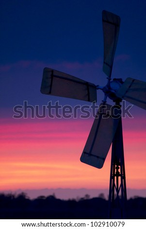 A windmills at sunset
