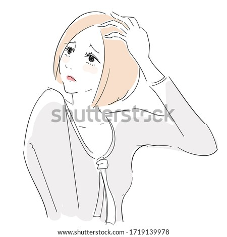 A woman with a headache and poor physical condition Stock photo ©