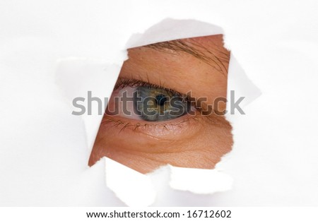 paper cut in eye