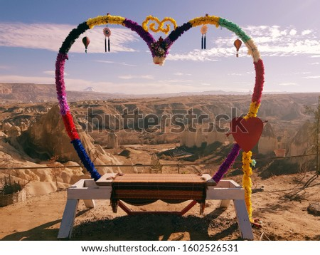 a wonderful background in the valley of love in cappadocia Stok fotoğraf ©