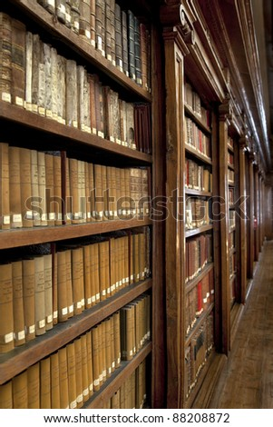 a wonderful library of old books