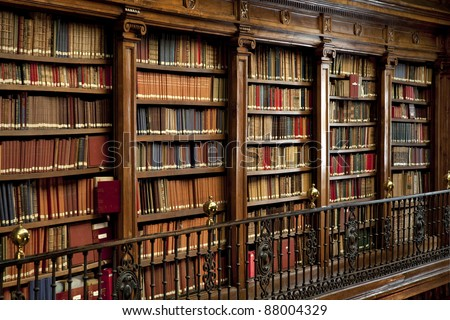 a wonderful library of old books in Spain