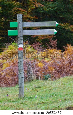 A wood billboard blank, just add your text. Shallow depth of field