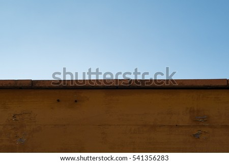 A wood slat on the blue sky background #541356283