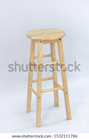 A wooden chair placed on a white background #1532111786