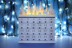 A Wooden Drawer Christmas Advent Calendar .