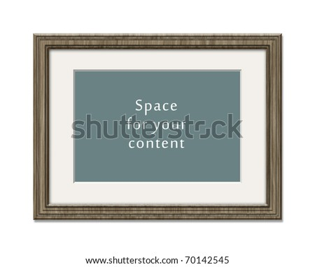A wooden frame with space for your content
