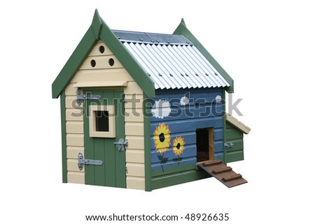 A Wooden Home Made for Ducks or Chickens.