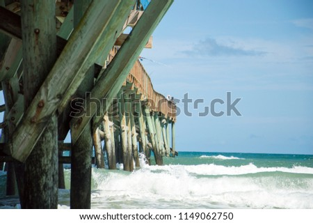 A wooden pier in Florida. #1149062750