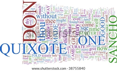 A word cloud based on Cervantes' Don Quixote