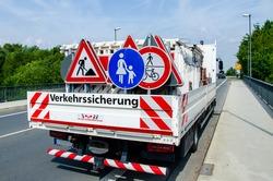 A worker's truck (