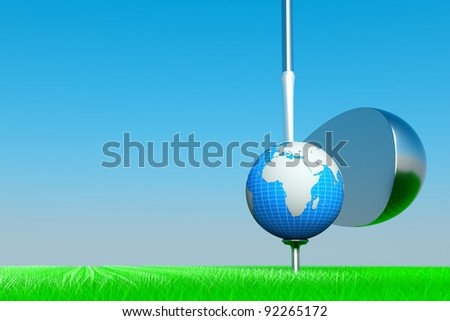 a world golf competition concept